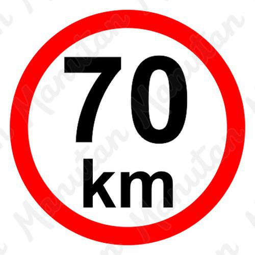 Munkavédelmi táblák - Sebességkorlátozás 70 km/h
