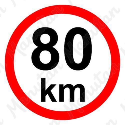 Munkavédelmi táblák - Sebességkorlátozás 80 km/h