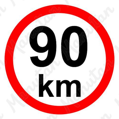 Munkavédelmi táblák - Sebességkorlátozás 90 km/h