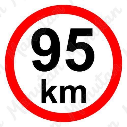 Munkavédelmi táblák - Sebességkorlátozás 95 km/h