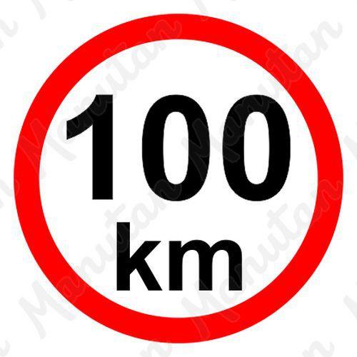 Munkavédelmi táblák - Sebességkorlátozás 100 km/h