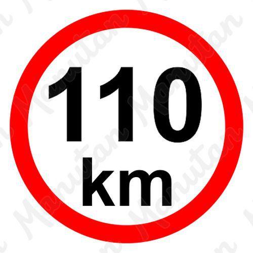 Munkavédelmi táblák - Sebességkorlátozás 110 km/h