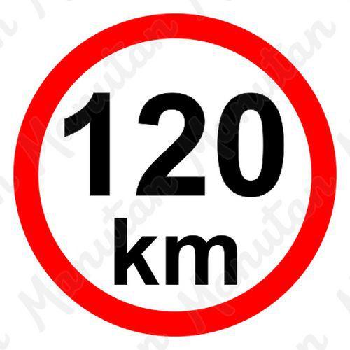 Munkavédelmi táblák - Sebességkorlátozás 120 km/h