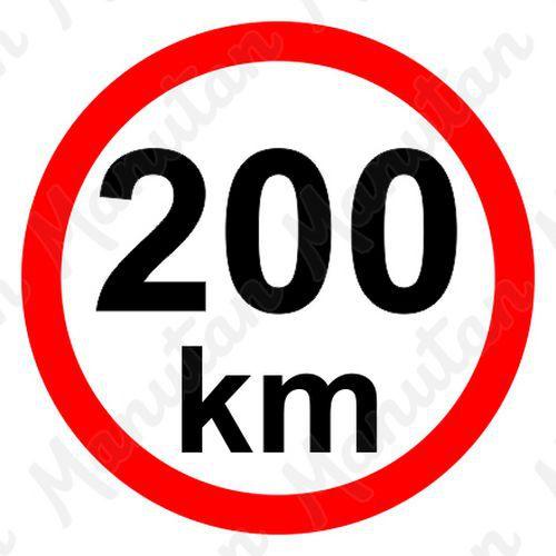Munkavédelmi táblák - Sebességkorlátozás 200 km/h