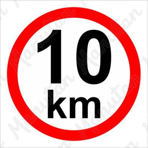 Munkavédelmi táblák - Sebességkorlátozás 10 km/h