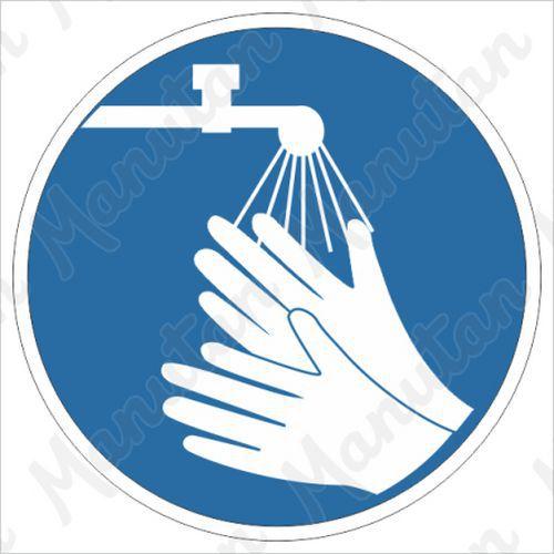 Munkavédelmi tábla - Munkavégzés előtt mosson kezet