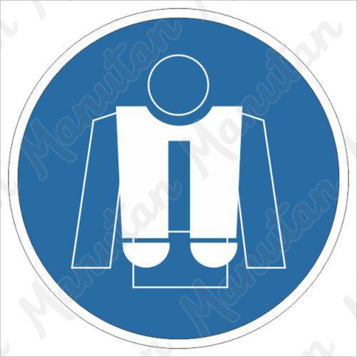 Munkavédelmi tábla - Használjon mentőmellényt