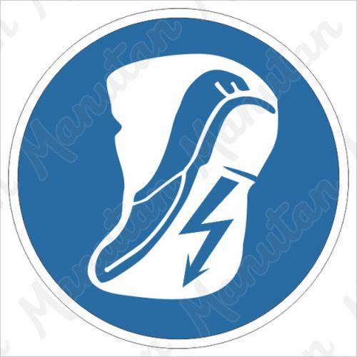 Munkavédelmi tábla - Viseljen munkavédelmi cipőt