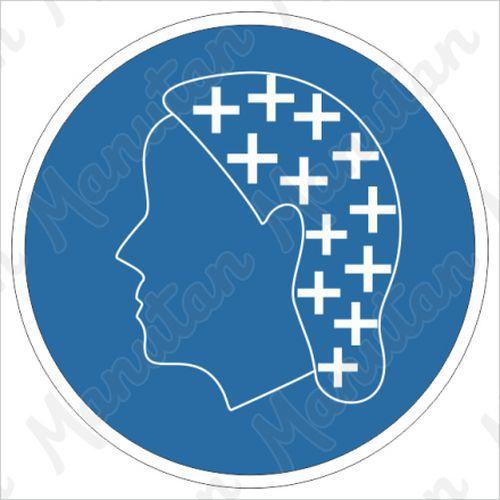 Munkavédelmi tábla - Használjon fejfedőt