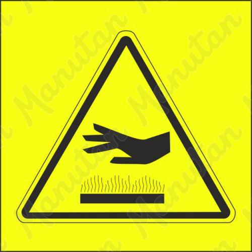 Figyelmeztető táblák - Forró felület