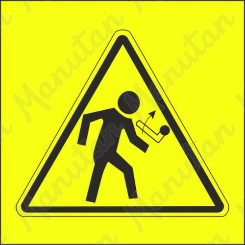 Figyelmeztető táblák - Kar visszaütő mozdulata felfelé