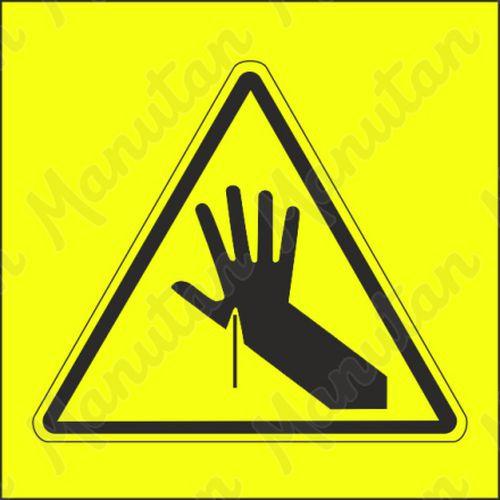 Figyelmeztető tábla - A kéz átszúrásának veszélye