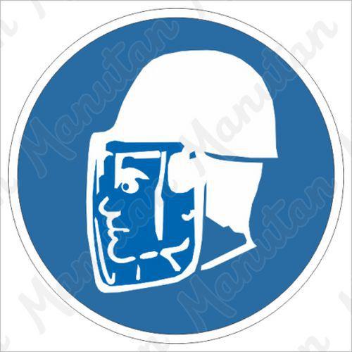 Munkavédelmi tábla - Viseljen arcvédőt