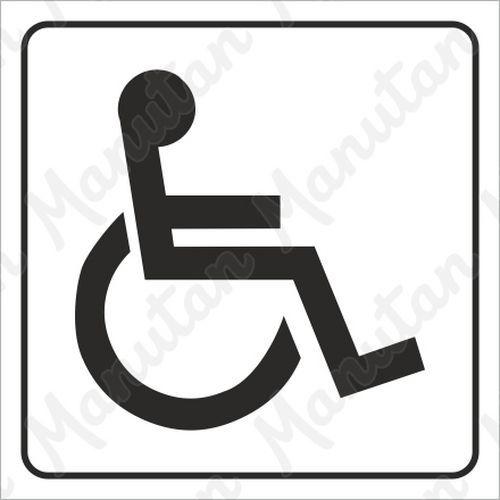 Információs tábla - Mozgássérült WC