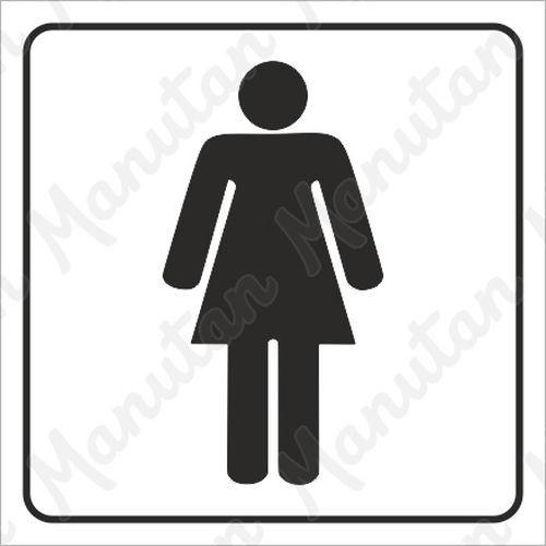 Információs tábla - Női WC