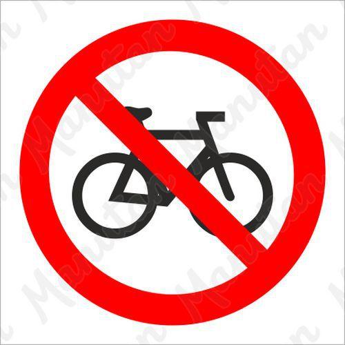 Tiltó táblák - Kerékpáron közlekedni tilos