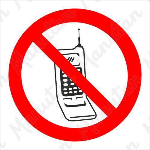 Tiltó táblák - Telefonálni tilos