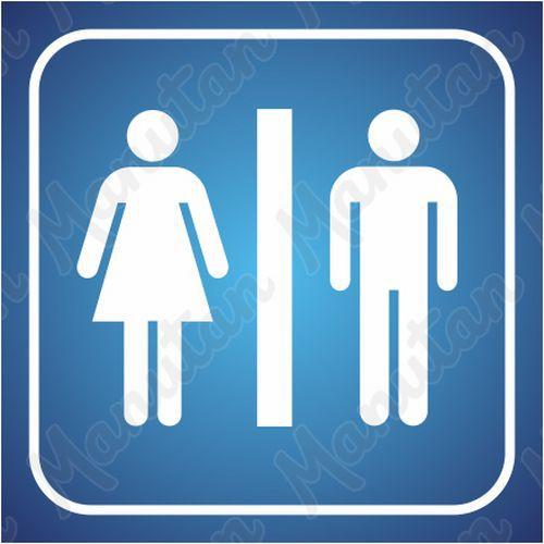 Információs tábla - Női és férfi mosdók