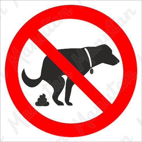 Tiltó táblák - Kutyát sétáltatni tilos