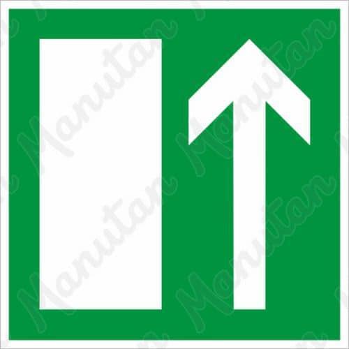 Biztonsági táblák, fotolumineszcens - Menekülési irány