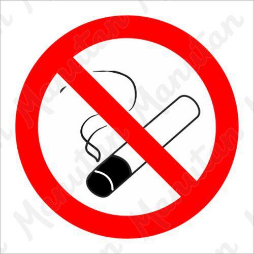Tiltó biztonsági táblák - Dohányozni tilos, 92 x 92 mm
