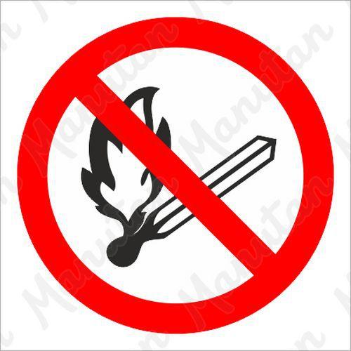 Tiltó biztonsági táblák - Nyílt láng használata tilos