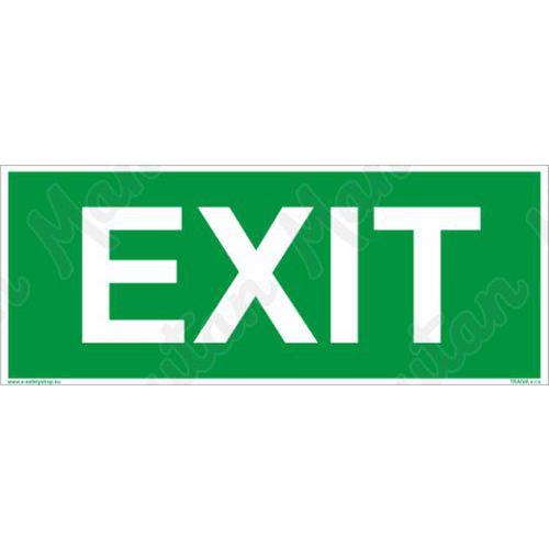 Menekülési foszforeszkáló biztonsági táblák - EXIT