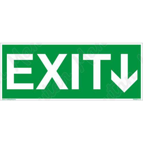 Menekülési foszforeszkáló biztonsági táblák - EXIT, irányjelzővel