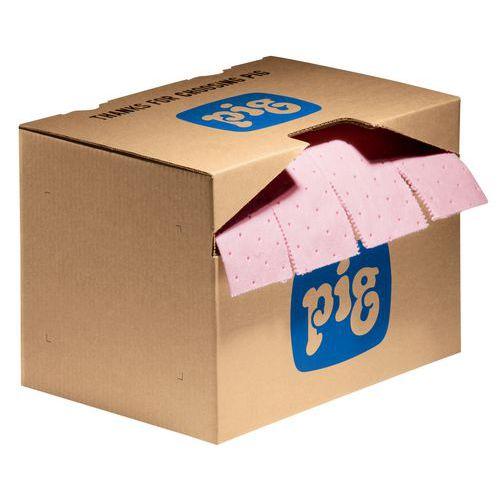 Felitató matrac kartondobozban Pig, vegyi, elnyelési kapacitás 29,7 l