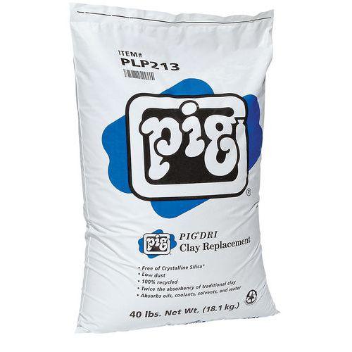 Porhanyós szorbens Pig, univerzális, elnyelési kapacitás 19 l, 18 kg
