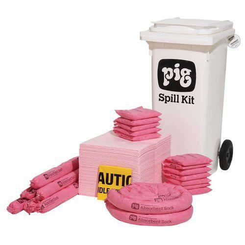 Kármentesítő készlet, hordozható, Pig, vegyi, elnyelési kapacitás 81 l