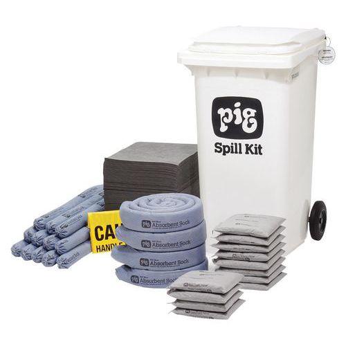 Kármentesítő készlet, hordozható, Pig, univerzális, elnyelési kapacitás 185 l