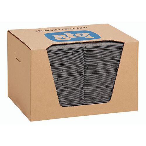 Felitató szőnyegek MD+ kartondobozban Pig, univerzális, elnyelési kapacitás 84 l, 100 db