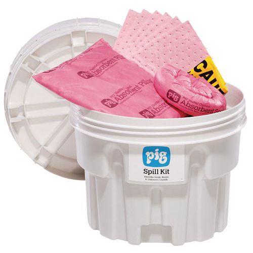 Kármentesítő készlet Pig, vegyi, elnyelési kapacitás 41,5 l