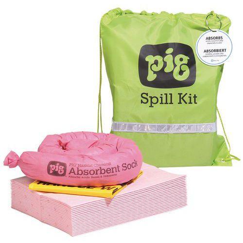 Kármentesítő felitató készlet Pig, vegyi, elnyelési kapacitás 11 l