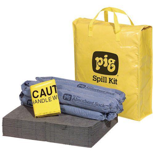 Kármentesítő készlet Pig, univerzális, elnyelési kapacitás 38 l