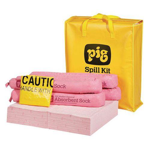 Kármentesítő felitató készlet Pig, vegyi, elnyelési kapacitás 38 l