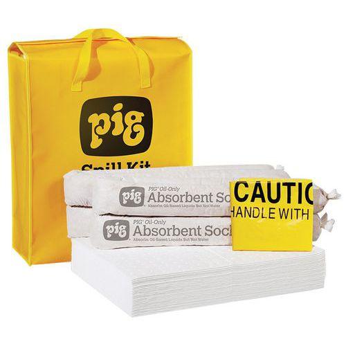 Kármentesítő készlet Pig, olajelnyelő, elnyelési kapacitás 38 l