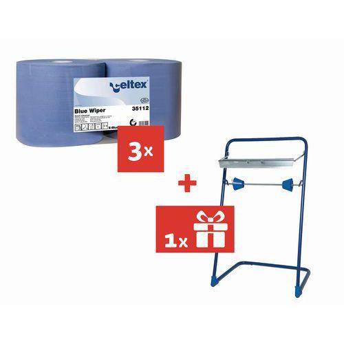 Celtex Blue Wiper 2 rétegű ipari papírtörlők, 970 lap, 6 db + AJÁNDÉK állvány