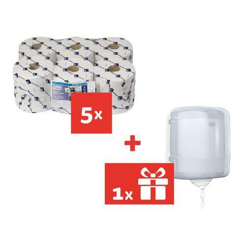 Tork Reflex kézi papírtörlők 1 rétegű, 857 lap, fehér, 30 db + AJÁNDÉK Tork Reflex adagoló