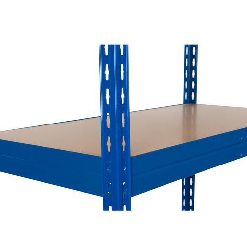 Kiegészítő farostlemez polcok, 210 cm, 350 kg, kék