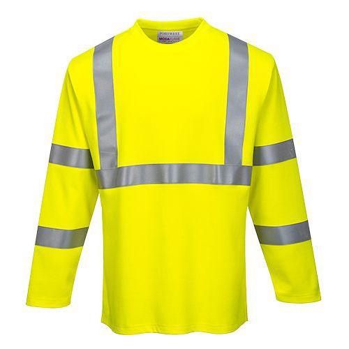 FR Hi-Vis hosszú ujjú pólóing, sárga