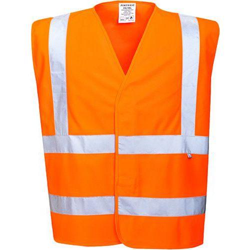 Lángálló jól láthatósági mellény, narancssárga
