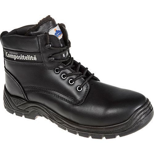 Compositelite szőrmebéléses védőbakancs, fekete