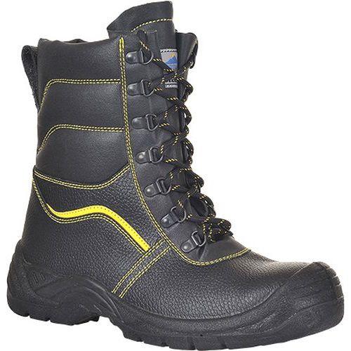 Steelite szőrmebéléses védőbakancs S3 CI, fekete