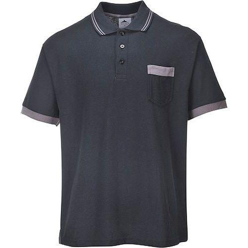 Portwest Texo Contrast pólóing, fekete