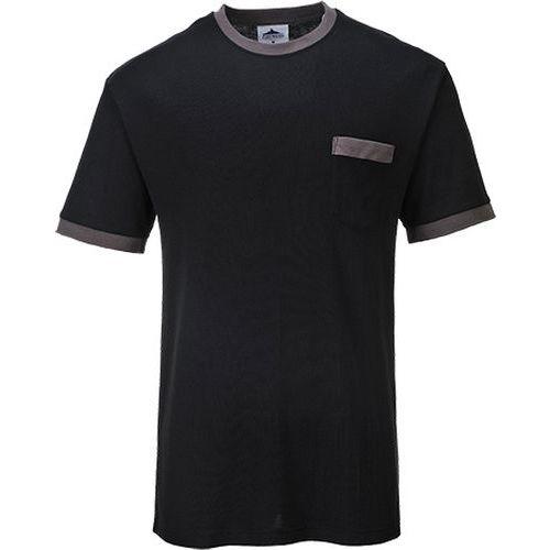 Portwest Texo kontraszt póló, fekete