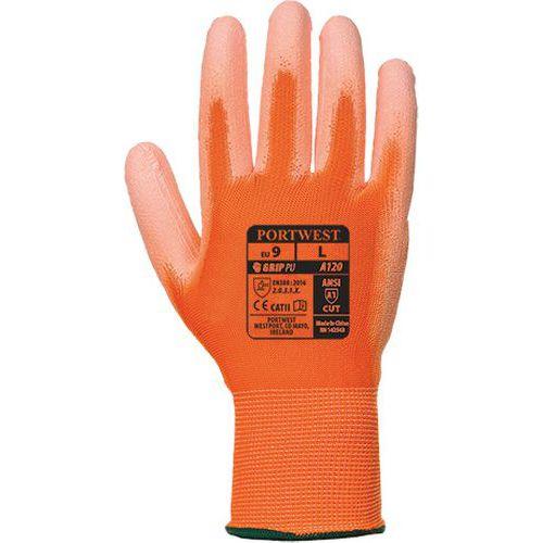 PU tenyérmártott kesztyű, narancssárga
