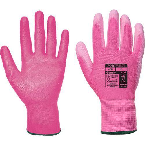 PU tenyérmártott kesztyű, rózsaszín