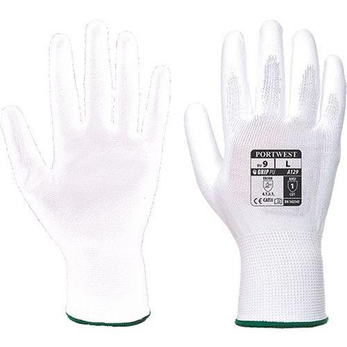 PU tenyérmártott kesztyű (12 pár/csomag), fehér